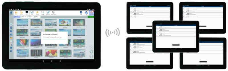 Broadcast Messages to Android Tablets - Instructor Alert Messages to Students with Cues -  SoftLINK For Android