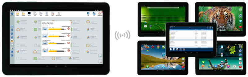 Transfer Files Between Android Tablets and Instructor Administrative Desktops - SoftLINK For Android
