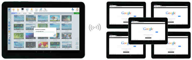 Launch Websites - Remotely Launch Websites on One/All Student Android Tablets - SoftLINK For Android